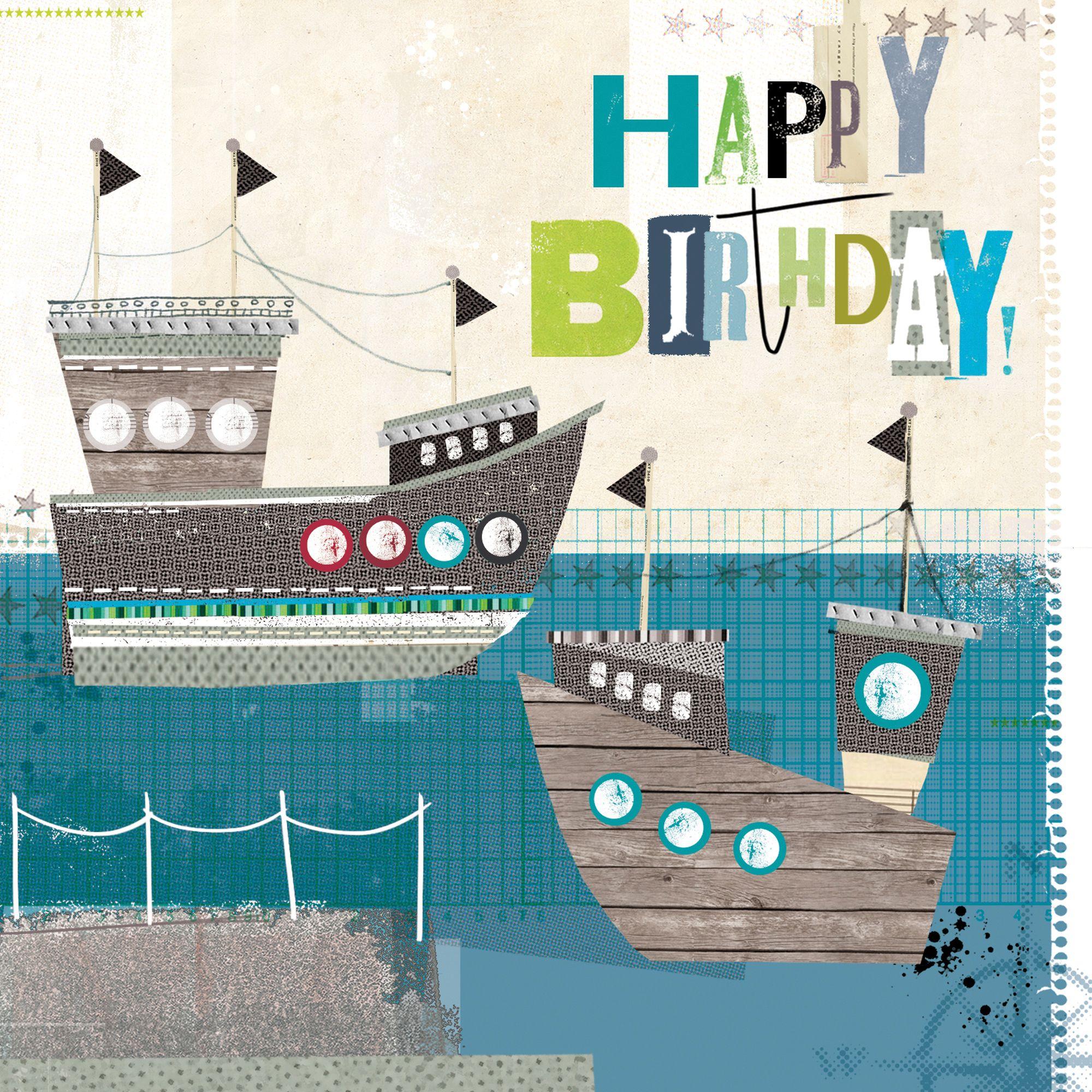 Birthday Sail W514 Birthday Greetings Card by Amy Tollafield