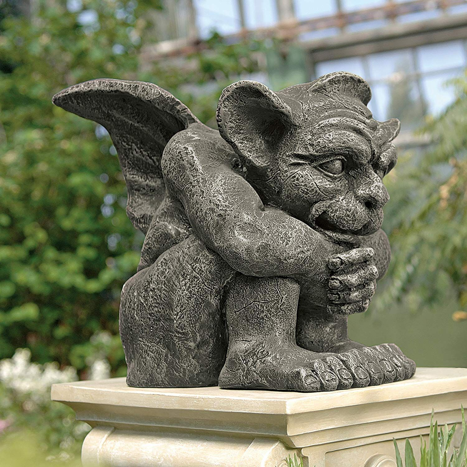 Haloween Decorations Emmett The Gargoyle Gothic Decor Statue