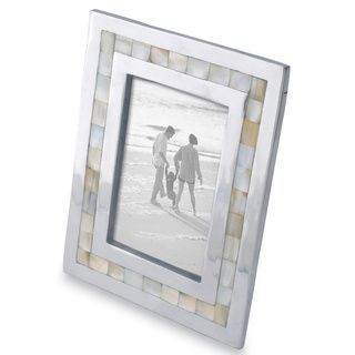 kindwer mother of pearl inlayed aluminum frame 5x7 mother of pearl inlayed aluminum 5x7 frame silver - Mother Of Pearl Picture Frame