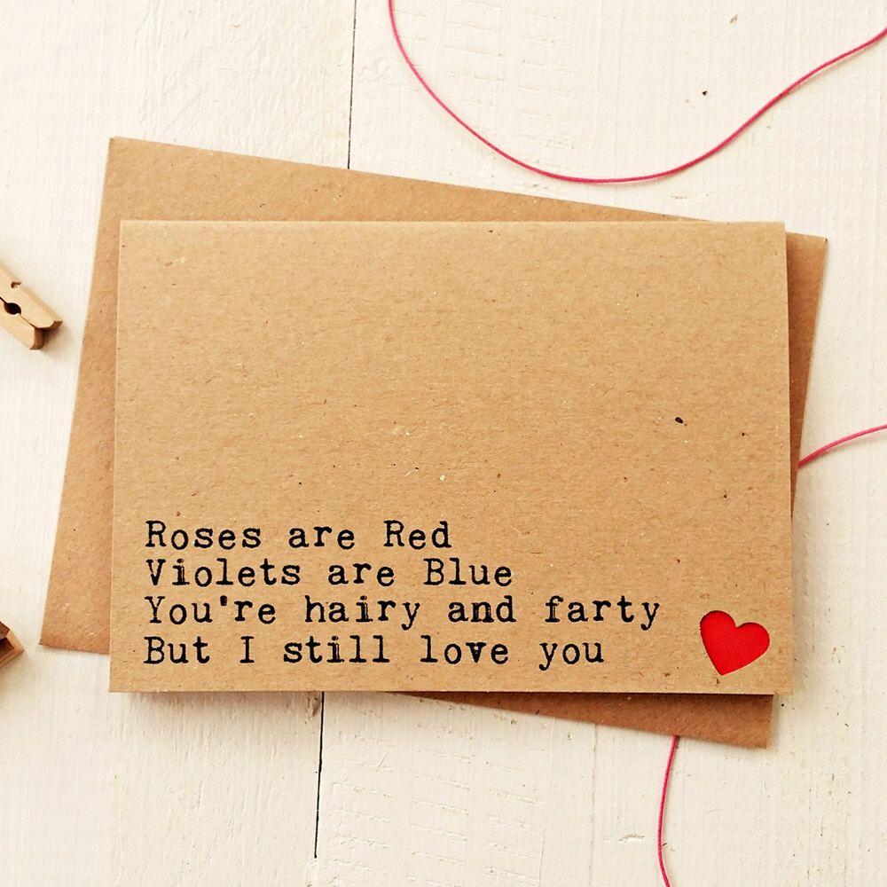Funny love cards funny boyfriend card husband card anniversary