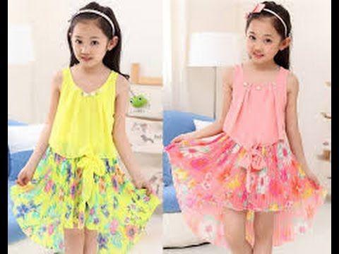 eeb5634e9 اجمل فساتين اطفال بالوان روعة ملابس اطفال بناتي صيف 2017 فساتين بنات للعيد  - YouTube