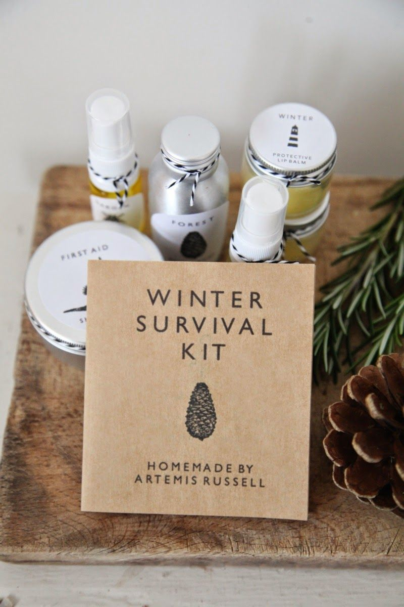 Handmade winter survival kit (handmade skin care & candle with ingredients booklet) #homemadeskincare