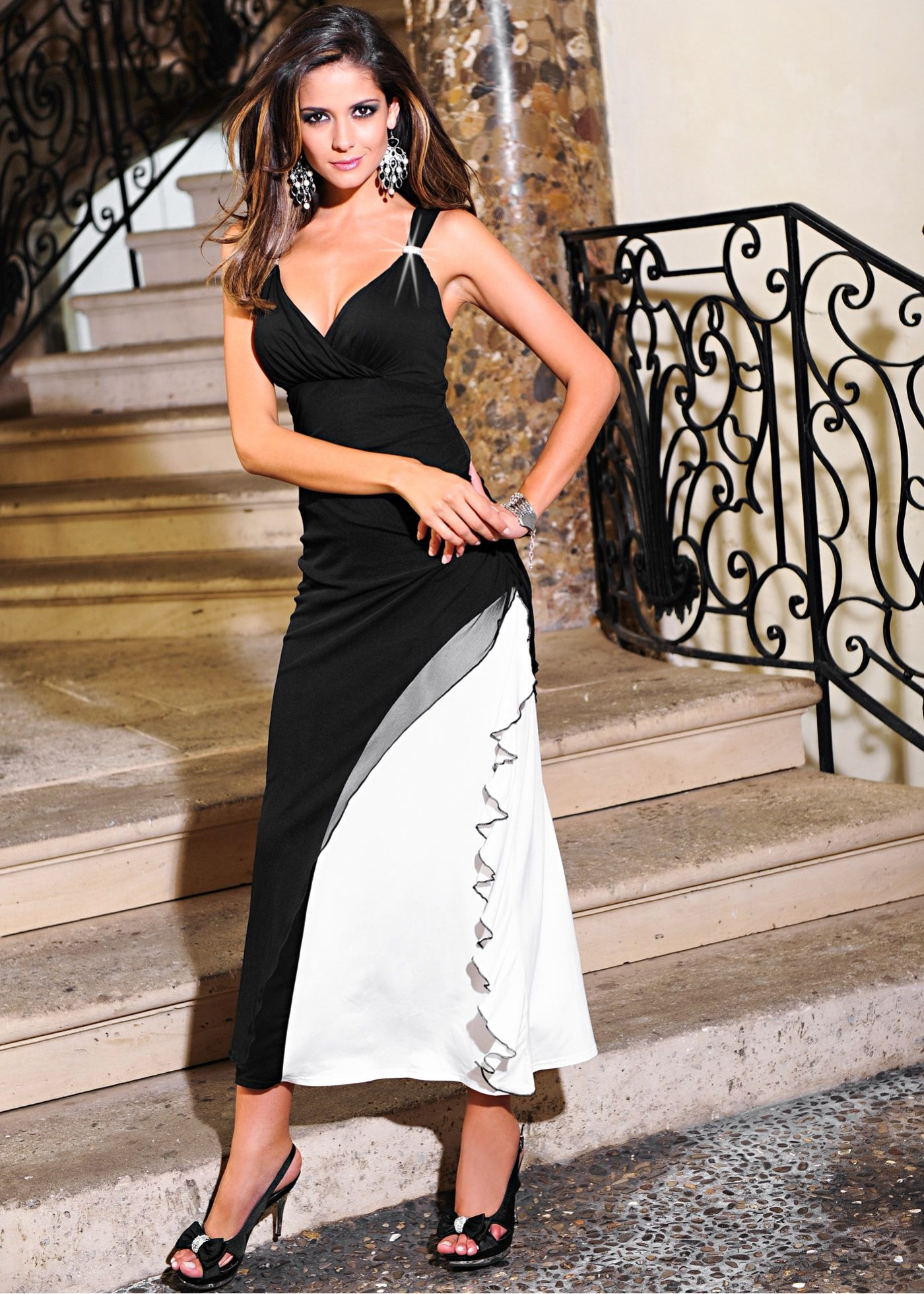 88af8b44cec0 bonprix - Sophisticated dress in a double-layered look - carla ossa ...