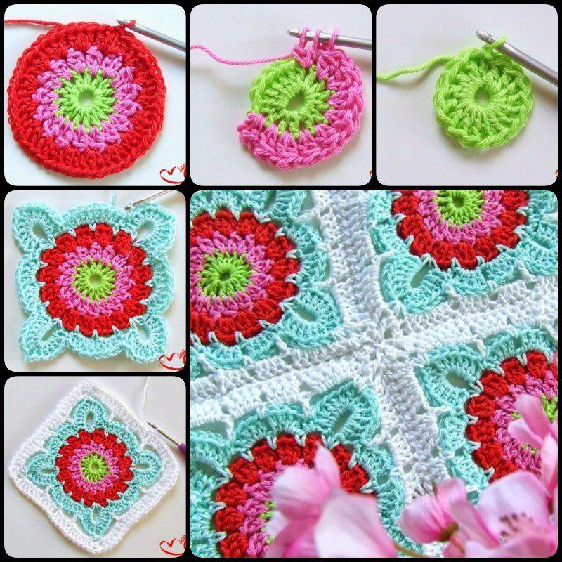 How to Crochet Granny Square Blanket | Pinterest | Deckchen häkeln ...