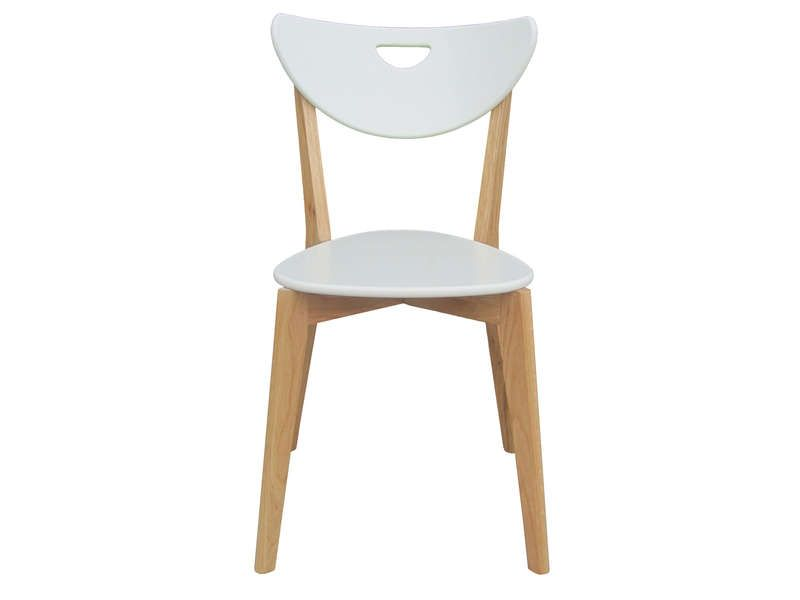 SKINE ConforamaIdées coloris blanc Meubles Chaise NkXZn0wOP8