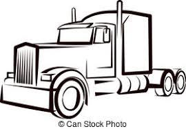 Cartoon Images Of Semi Trucks Google Search Truck Tattoo Semi Trucks Simple Illustration