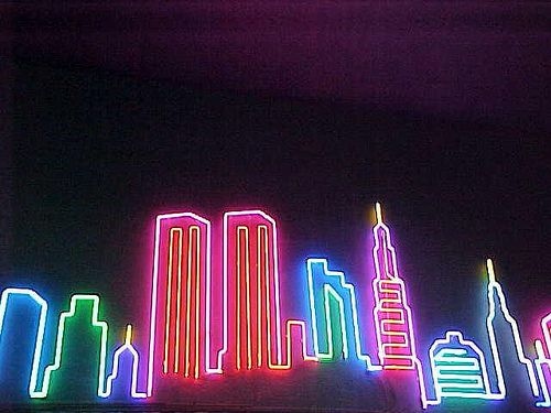 Neon Cityscape Neon Wall Signs Neon Glow Neon