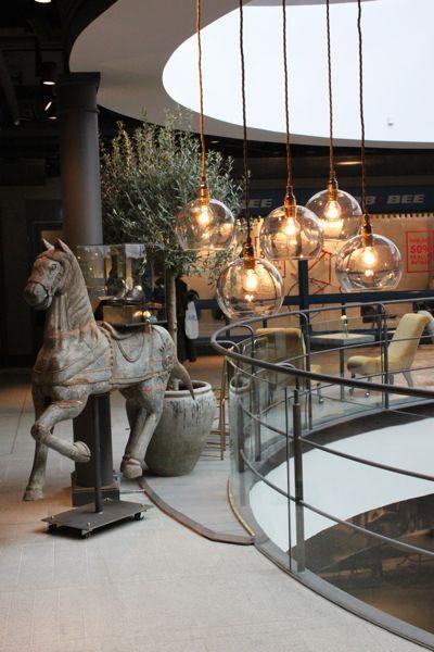 lounge area at mood the rowan pendant lamps