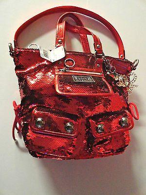 Coach Poppy Spotlight Sequin Shoulder Bag Red 13821 Discontinued Ebay