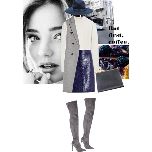 A fashion look from October 2015 by hil4ry featuring Acne Studios, rag & bone, MSGM, Gianvito Rossi and Kerr®