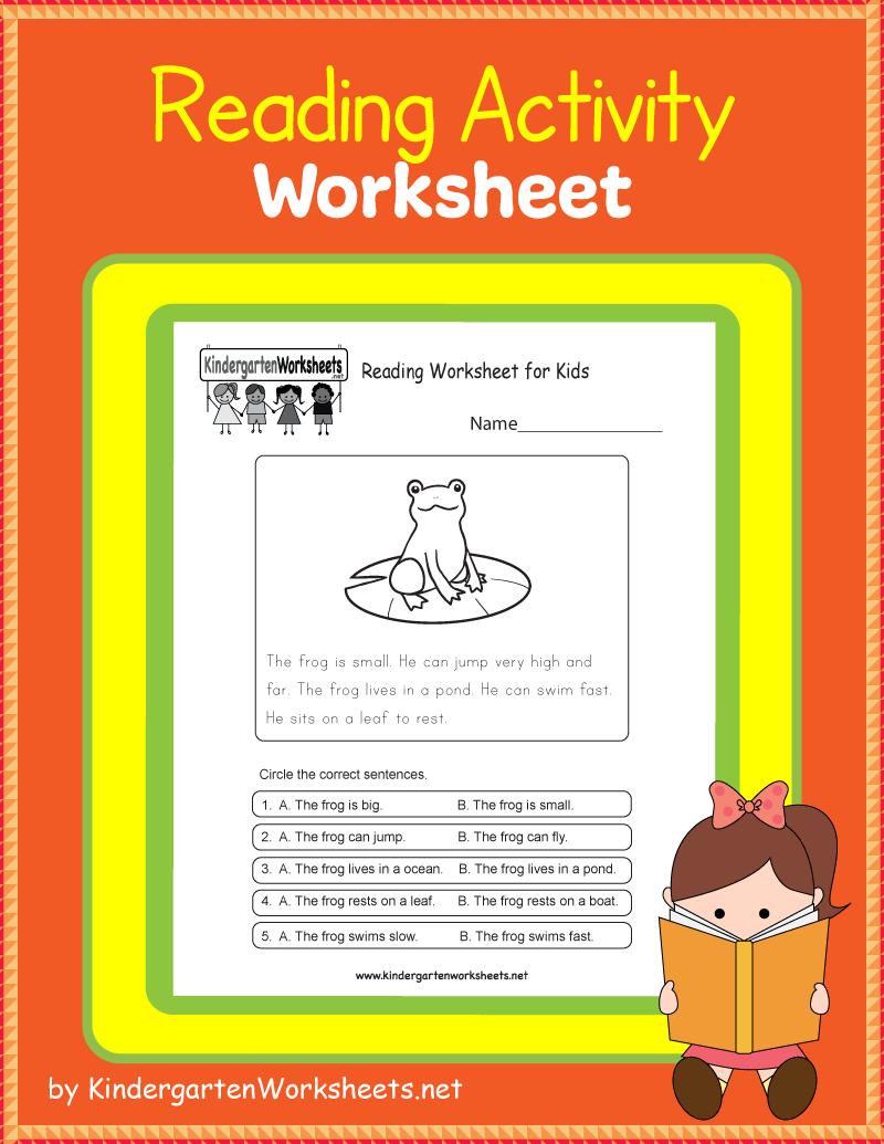 Kindergarten Reading Activity Worksheet Reading Worksheets Kindergarten Reading Activities English Worksheets For Kids [ 1035 x 800 Pixel ]