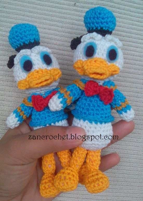 Donald Duck - NL Translation ~ Zan Crochet Gratis patroon ...