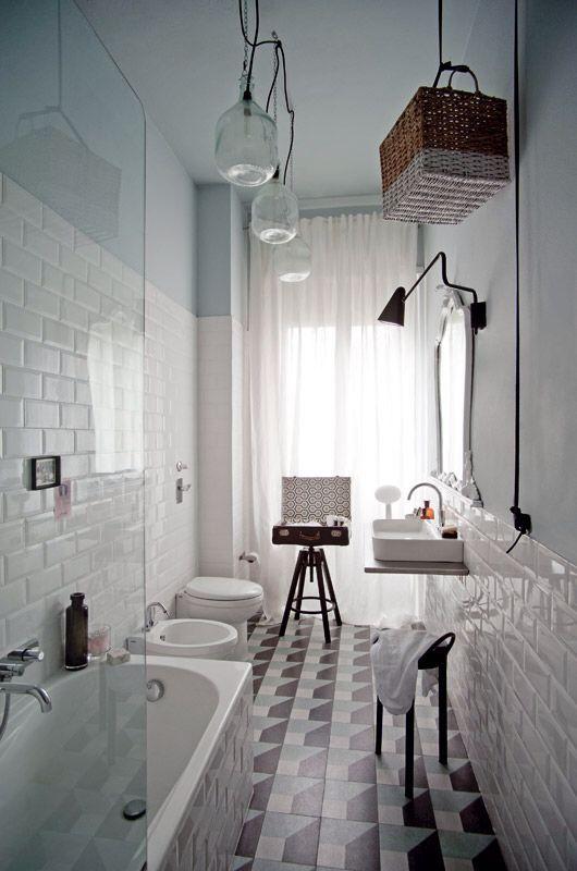 24 idee per arredare un bagno lungo e stretto   Arredamento