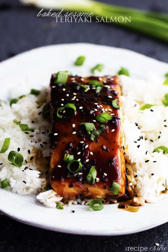 Baked Sesame Teriyaki Salmon | The Recipe Critic #teriyakisalmon