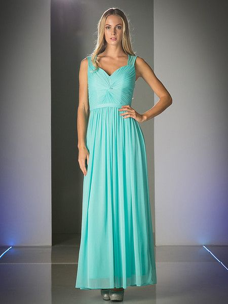 Custom Order Twist Front Ruched Chiffon Floor length Bridesmaid Gown ...