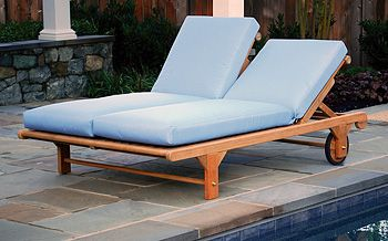 Beau Atlantic Teak Double Patio Chaise Lounge   Just Another Outdoor Lounge  Chair Concept. Great In Ski Locations For Hanging Out After A Long Day On  The Slopes!