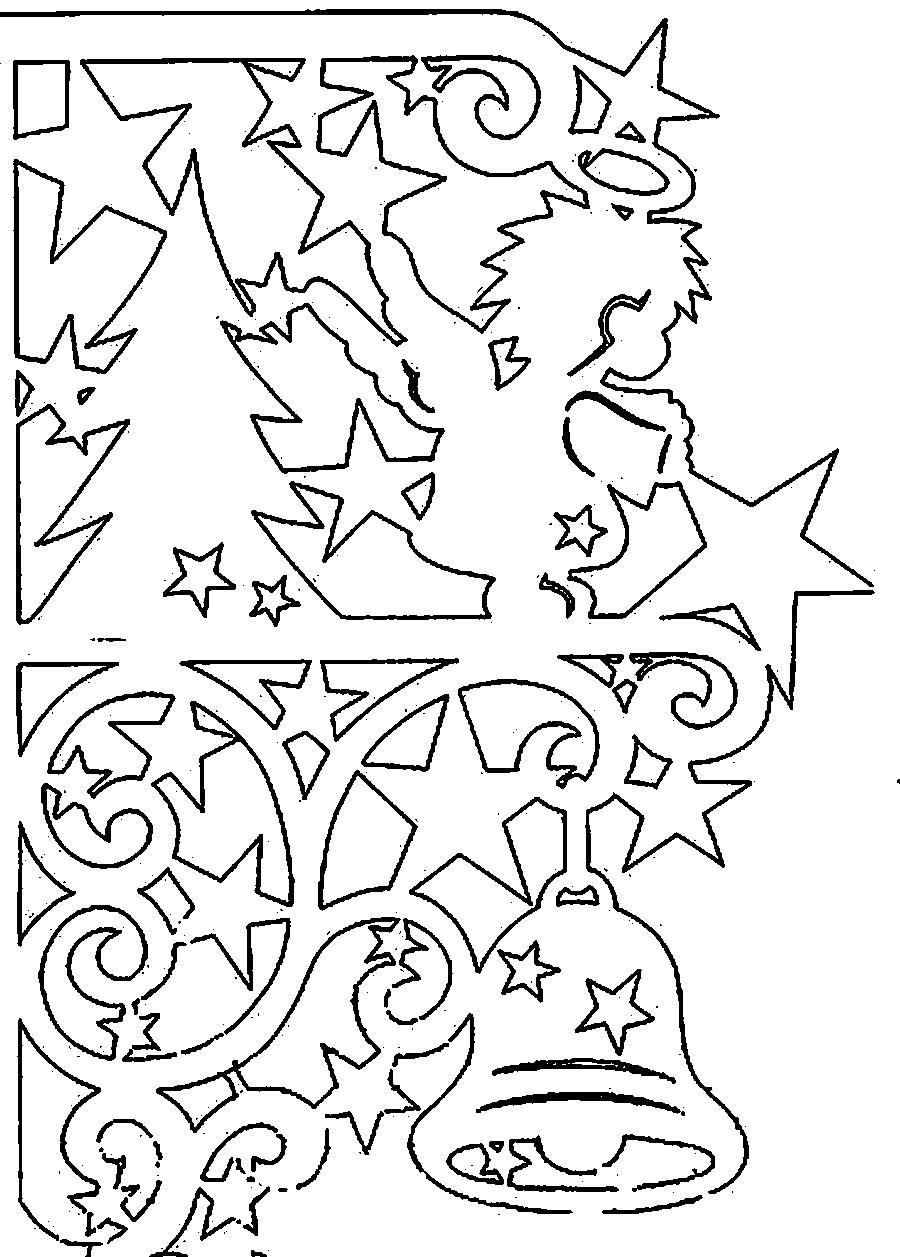 Coloring Stencil Patterns Template For The New Year Christmas