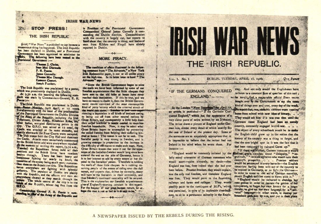 Reporting the Rising: Press Coverage of Easter 1916   Century Ireland