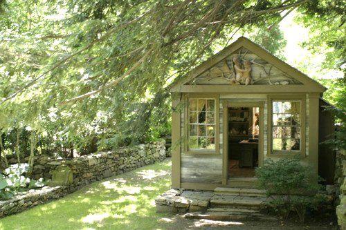 Garden cottage office of Michael Trapp!  Georgian design