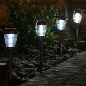 Smart Living Charleston Copper Finish Pathway Led Lights Solar Pathway Lights Solar Path Lights Solar Landscape Lighting