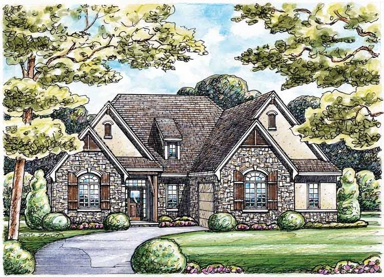 French Country House Plan with 2255 Square Feet and 2 Bedrooms ...