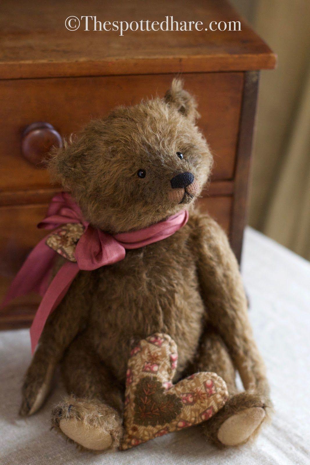 Http Thespottedharegallery Blogspot Com Old Teddy Bears Teddy Bear Plush Teddy Bear Pattern