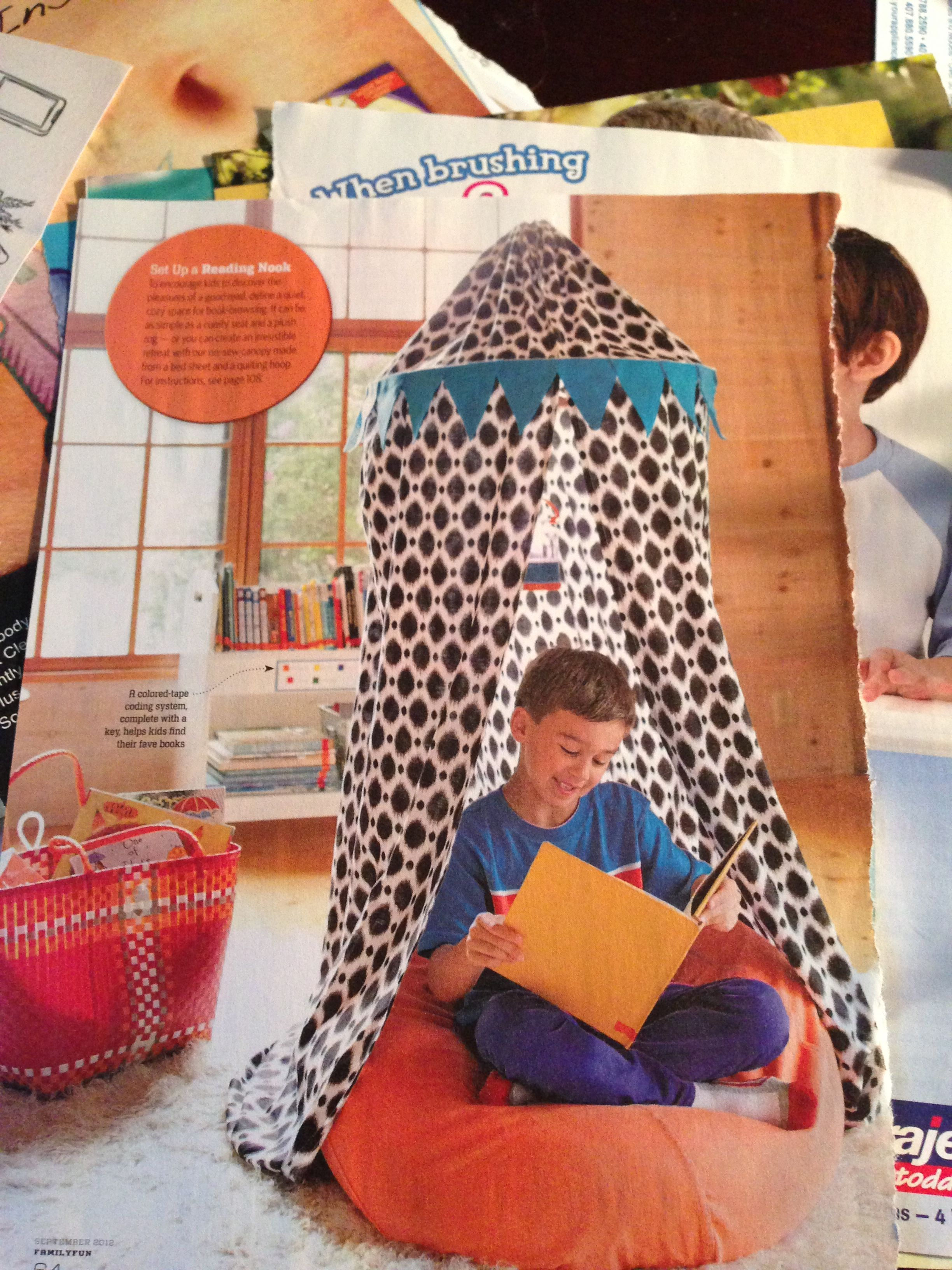 Reading nook for kids