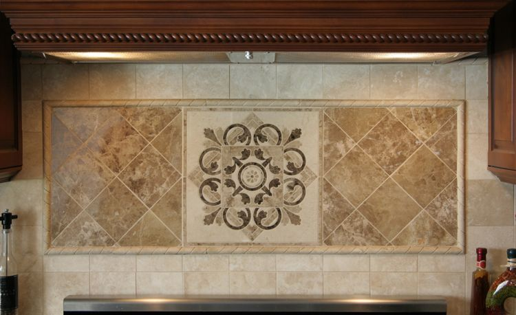 Kitchen Medallions For Backsplash Hegle Tile Kitchens Tile