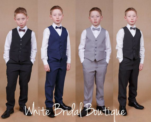 First communion suit Ring bearer suit Navy boy suit Communion