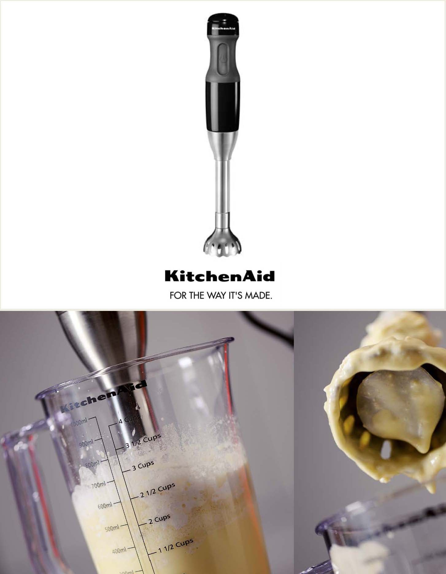 Frother Beater Included As An Attachment With The 5 Speed Hand Blender Used For Frothing Milk Cafe Latte Cappuccino A Milk Cafe Frothing Milk Kitchen Aid