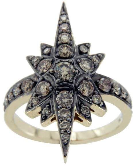 737836a9e1614 H.Stern 18K Yellow Gold & Champagne Diamonds Genesis Star Ring Size ...
