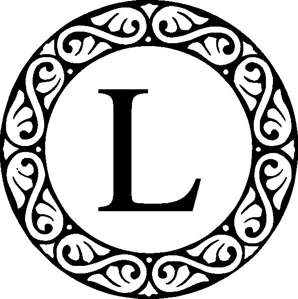 circle sroll letter l monogram clip art at clkercom vector clip