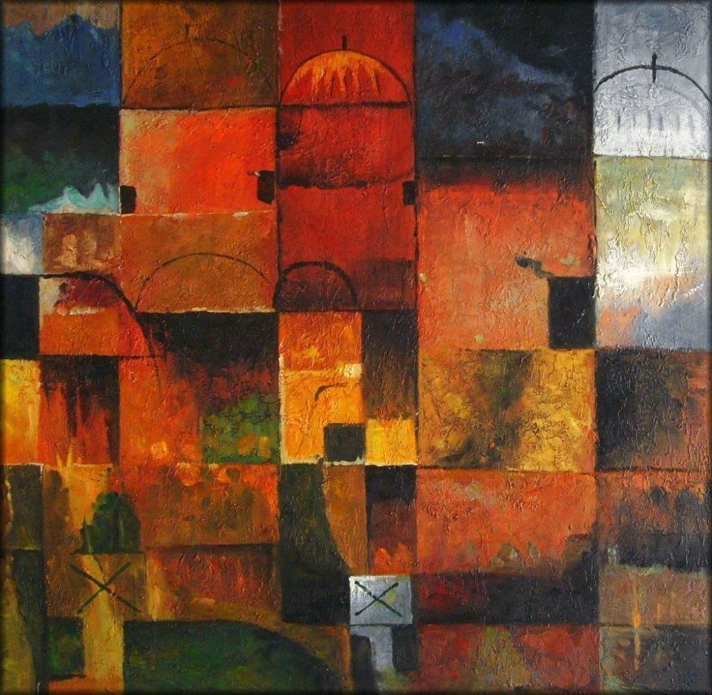 Klee Red And White Domes Where Painted