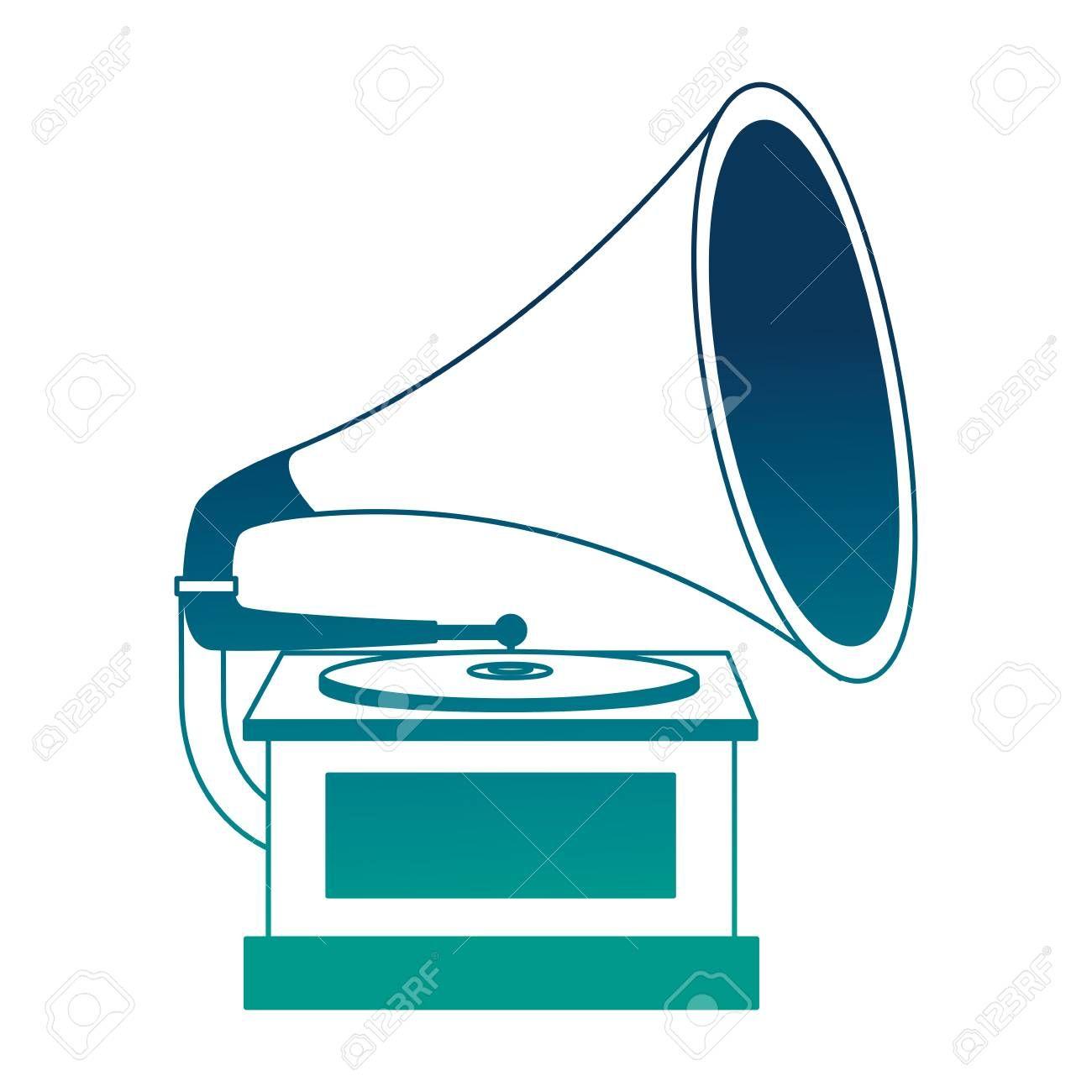 gramophone music retro icon vector illustration design sponsored retro music gramophone icon design style inspiration inspiration illustration pinterest