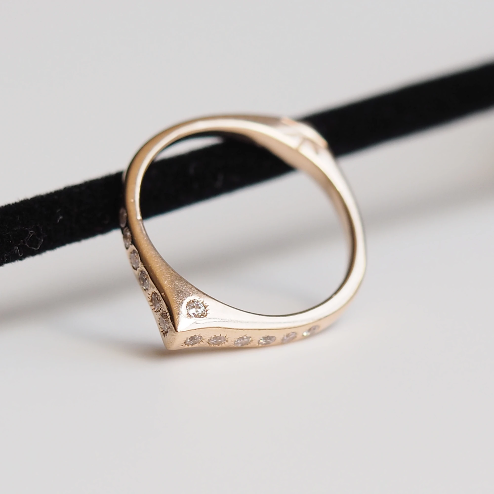 Photo of Evil Eye Ring | Rose Gold | White Sapphire