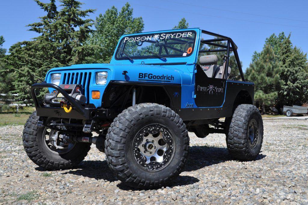Huge Jeep Wrangler YJ with tube fenders | jeep wrangler | Pinterest