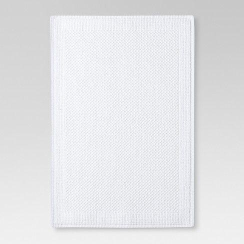 Ultra Soft Solid Bath Mat Threshold Target Soft Bath Mat White Bath Mat