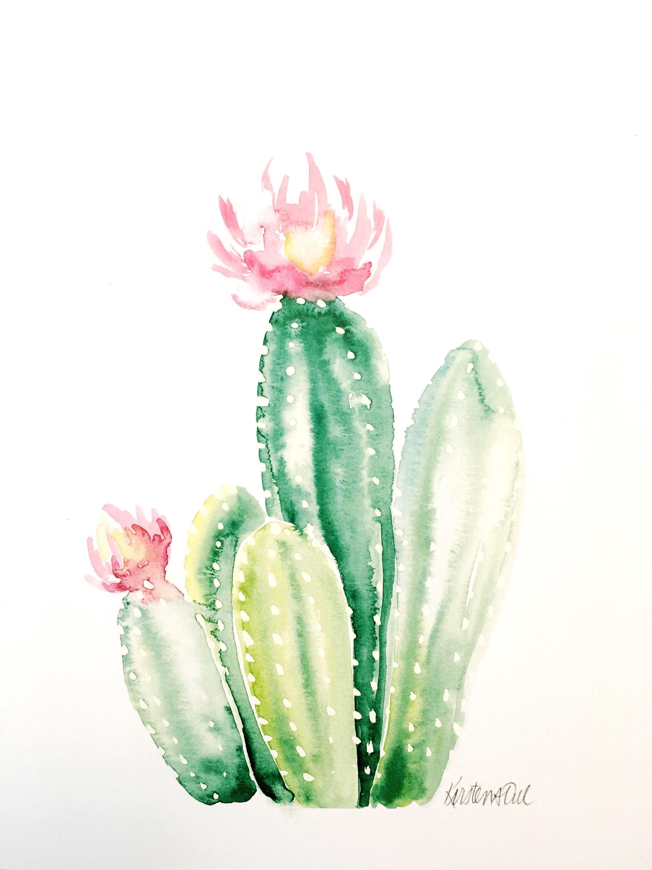 Cactus Watercolor Https Www Etsy Com Listing 581744588 Cactus 2
