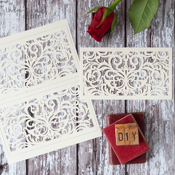 Blank laser cut panels to decorate wedding invitations diy wedding blank laser cut panels to decorate wedding invitations diy wedding stationery supplies cream laser junglespirit Gallery