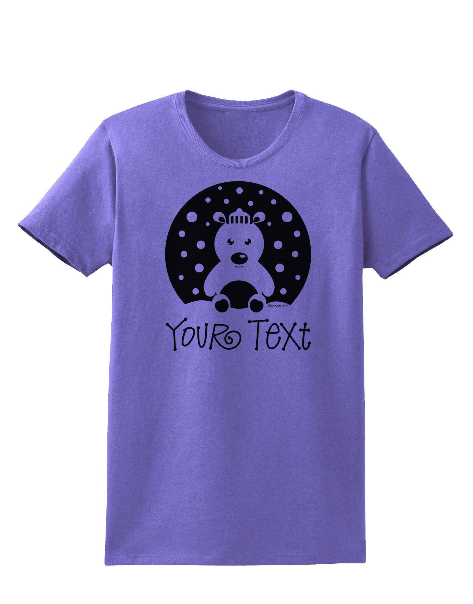 TooLoud Personalized Matching Polar Bear Family Design - Your Text Womens T-Shirt