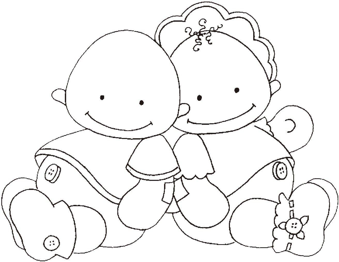 dibujos bebes para colorear - Buscar con Google | Plantillas dibujos ...