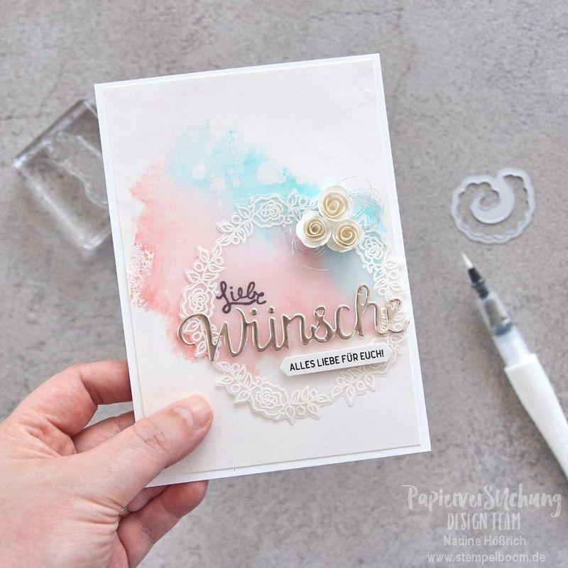 Hochzeitskarte Alles Liebe Fur Euch Stempelboom Karte Hochzeit Hochzeitskarten Gluckwunschkarte Hochzeit