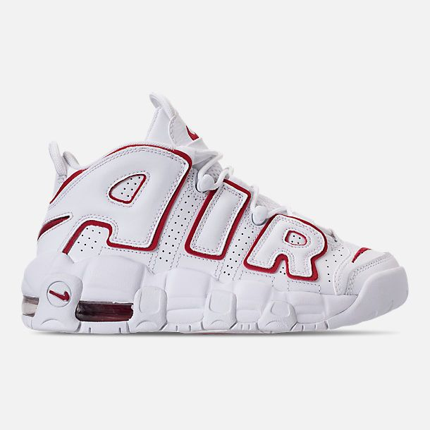 e376efdd16fd Right view of Boys  Grade School Nike Air More Uptempo Basketball Shoes in  White Varsity Red