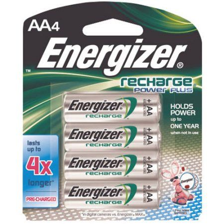 Energizer Rechargeable Aa Batteries 8 Pack Double A Batteries Walmart Com Energizer Battery Rechargeable Batteries Energizer