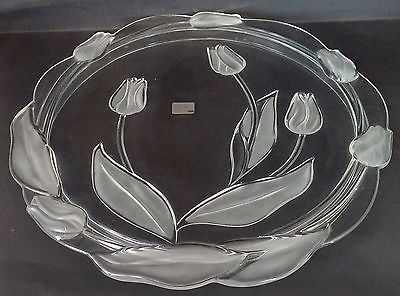 Mikasa Clear & Frosted Glass Tulip Cake Plate - Germany | MIKASA ...