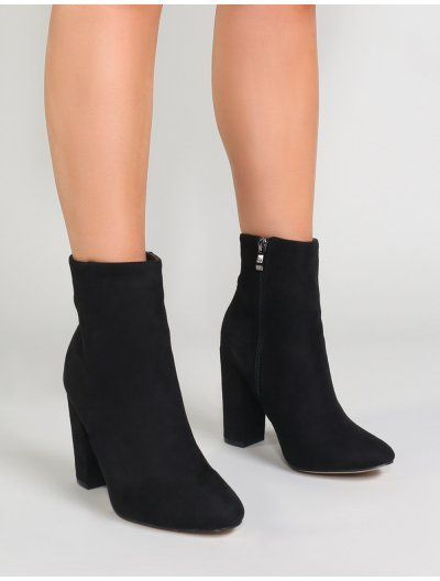 f2fa3afb7 Presley Ankle Boots in Black Faux Suede in 2019 | Outfits | Boots ...