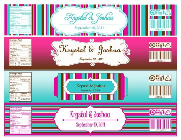 DIY Wedding - do it yourself wedding ideas and templates by - water bottle label template