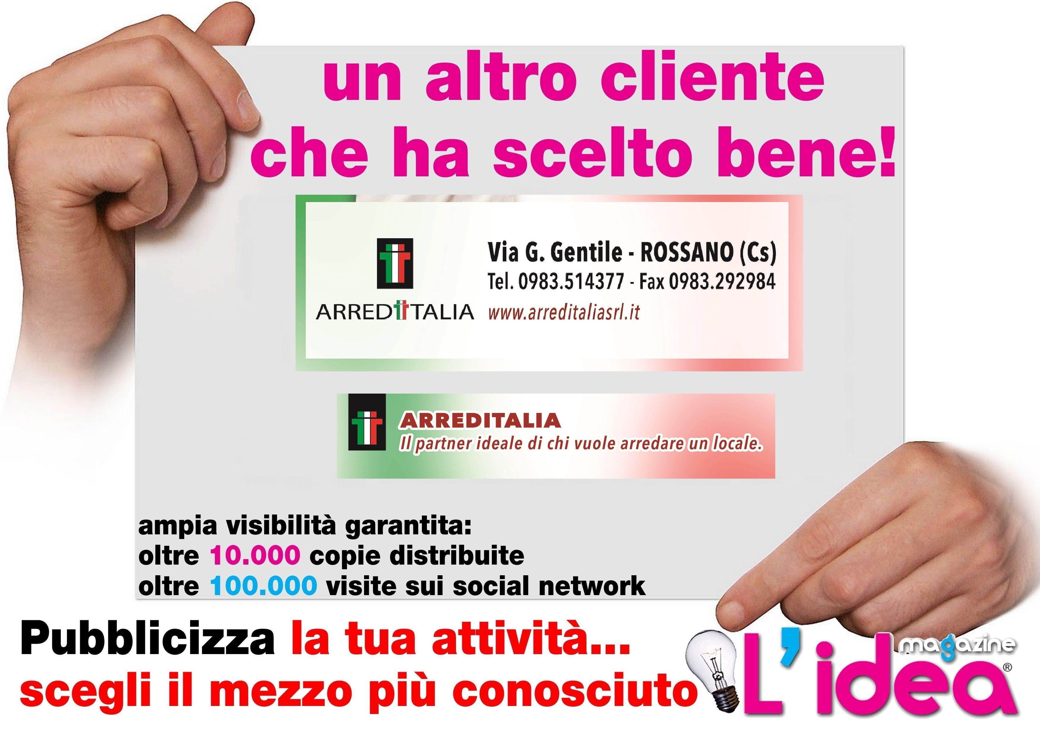 grafica da noi realizzata per Arreditalia -Rossano- CS