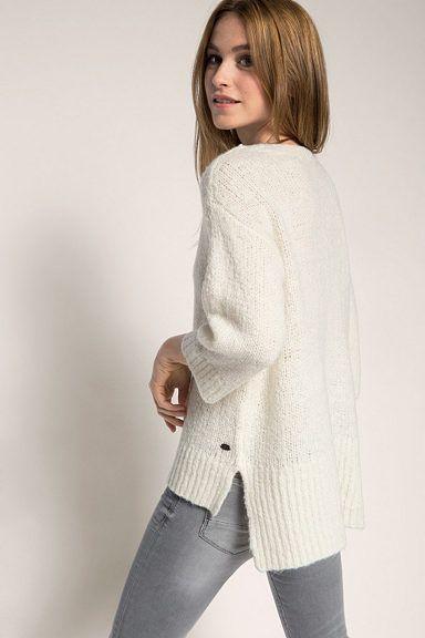 Esprit Pullover mit samtigen Print, 100% Baumwolle | Female