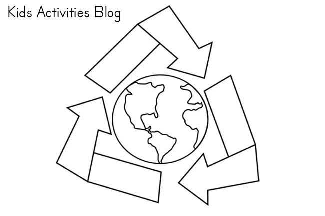 Recycle Symbol Pattern Use The Printable Outline For Crafts